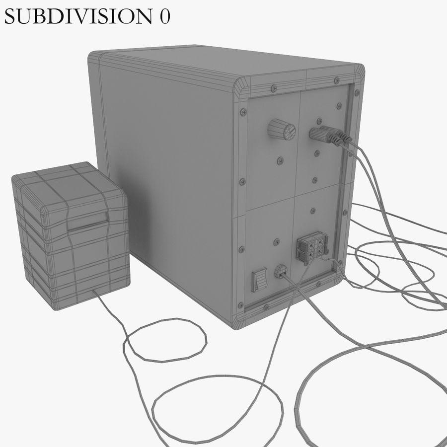 Ses hoparlörleri Microlab royalty-free 3d model - Preview no. 8