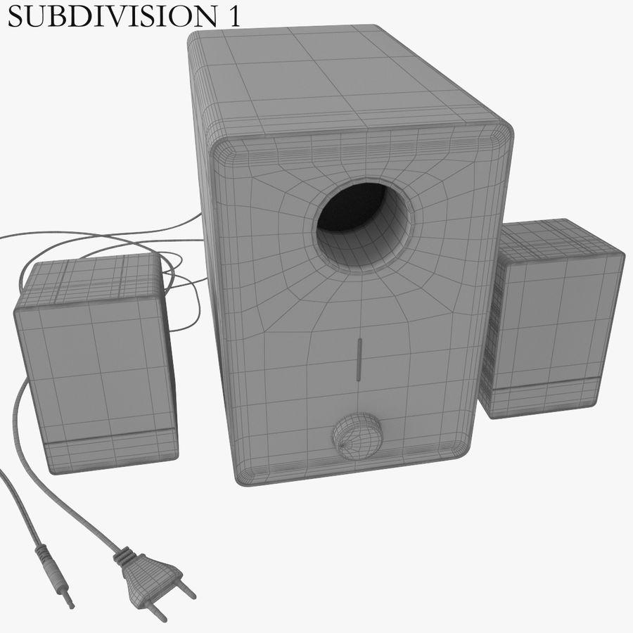 Ses hoparlörleri Microlab royalty-free 3d model - Preview no. 9