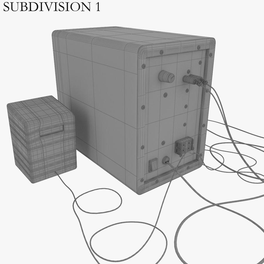 Ses hoparlörleri Microlab royalty-free 3d model - Preview no. 10