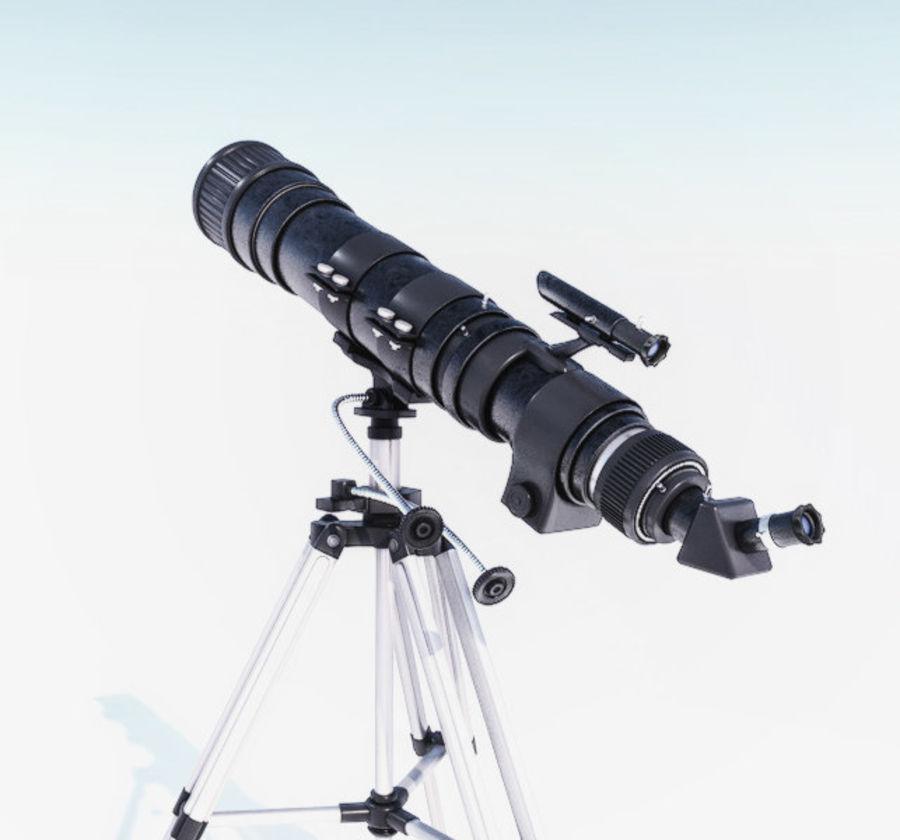Телескоп royalty-free 3d model - Preview no. 4