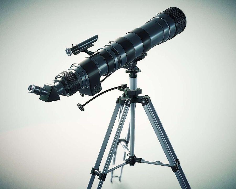 Телескоп royalty-free 3d model - Preview no. 1