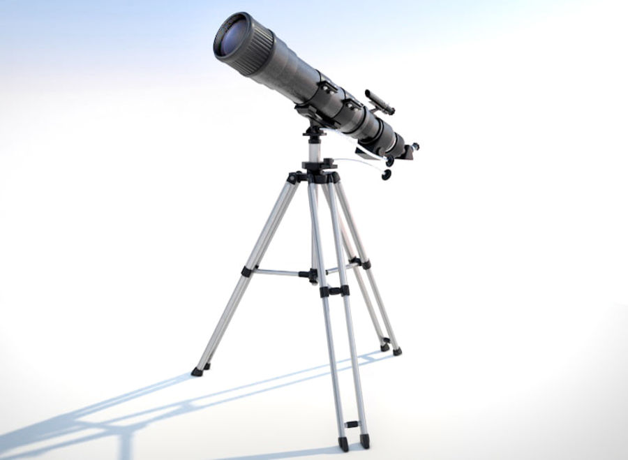 Телескоп royalty-free 3d model - Preview no. 3