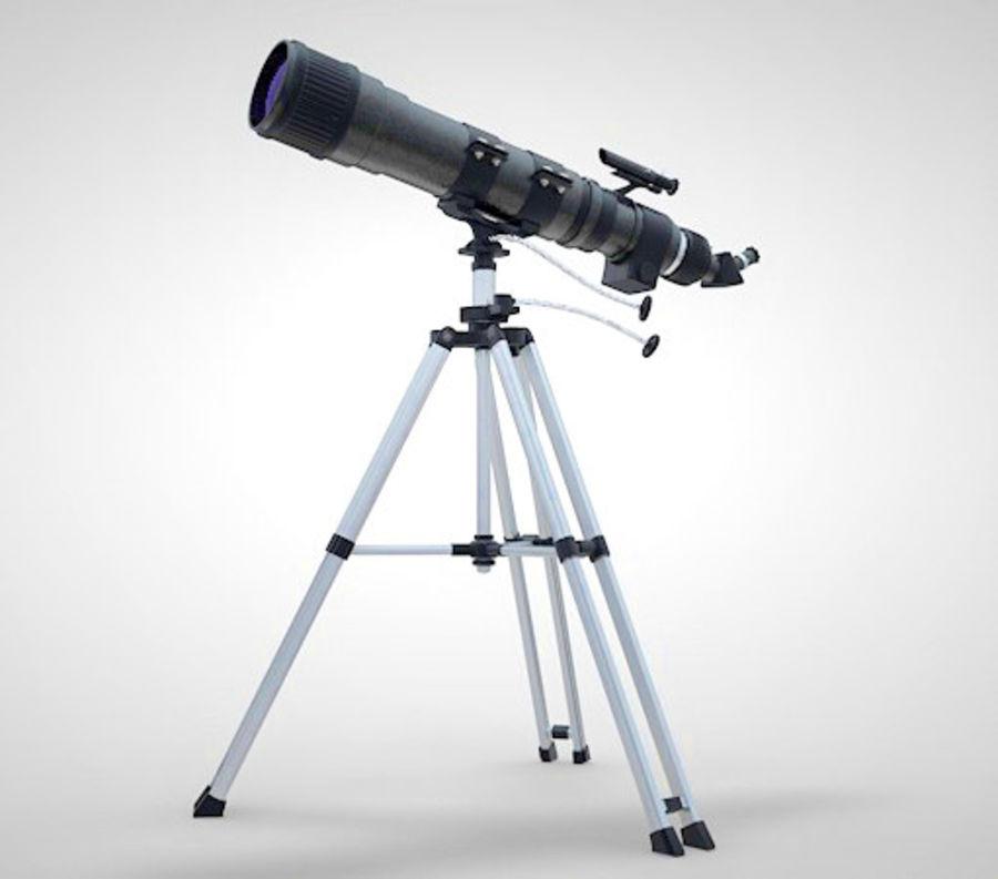 Телескоп royalty-free 3d model - Preview no. 2