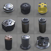 Hard Surface Kitbash Library - Canisters 3d model