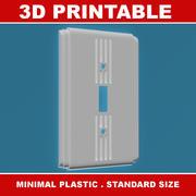 Interruttore luci art deco 3D stampabile 3d model