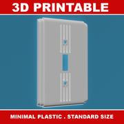 Art deco lichtschakelaar 3D printbaar 3d model