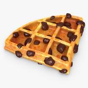 Waffle Raisins 02 3d model
