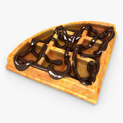Waffle Chocolate 02 3d model
