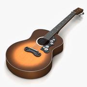 民谣吉他3 3d model