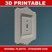 Art Deco Light Switch 3D stampabile 3d model