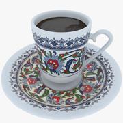 Turkisk kaffekopp 3d model