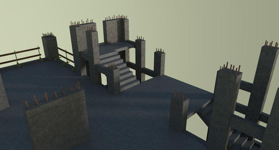 Plac budowy trzy teksturowane royalty-free 3d model - Preview no. 8