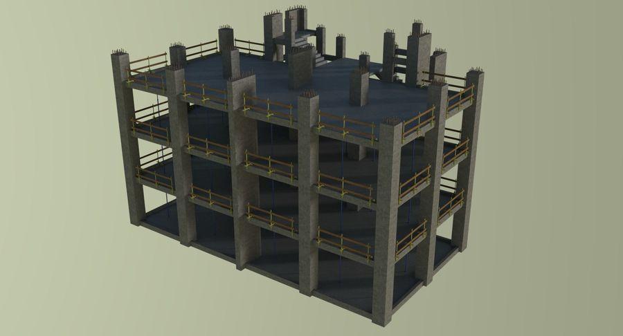 Plac budowy trzy teksturowane royalty-free 3d model - Preview no. 3