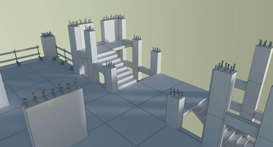 Plac budowy trzy teksturowane royalty-free 3d model - Preview no. 18