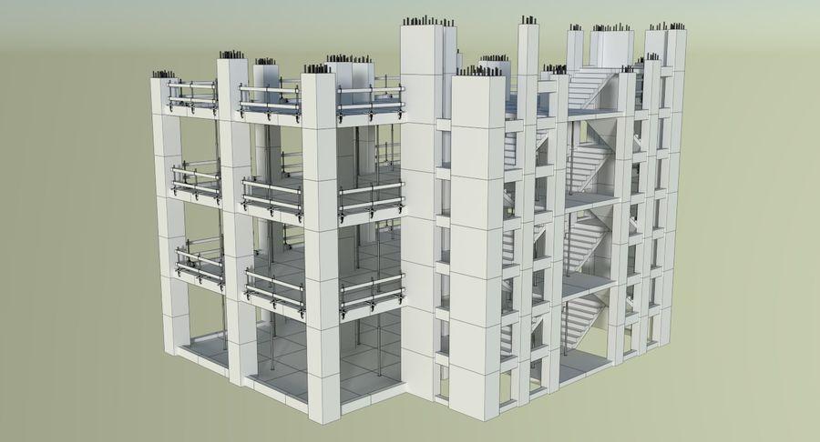 Plac budowy trzy teksturowane royalty-free 3d model - Preview no. 12