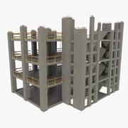 Sitio de construcción tres texturizado modelo 3d