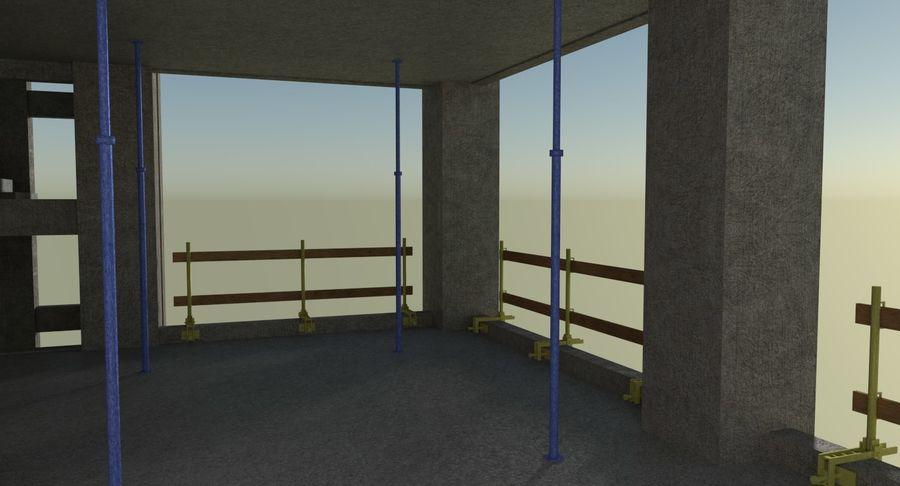 Plac budowy trzy teksturowane royalty-free 3d model - Preview no. 7
