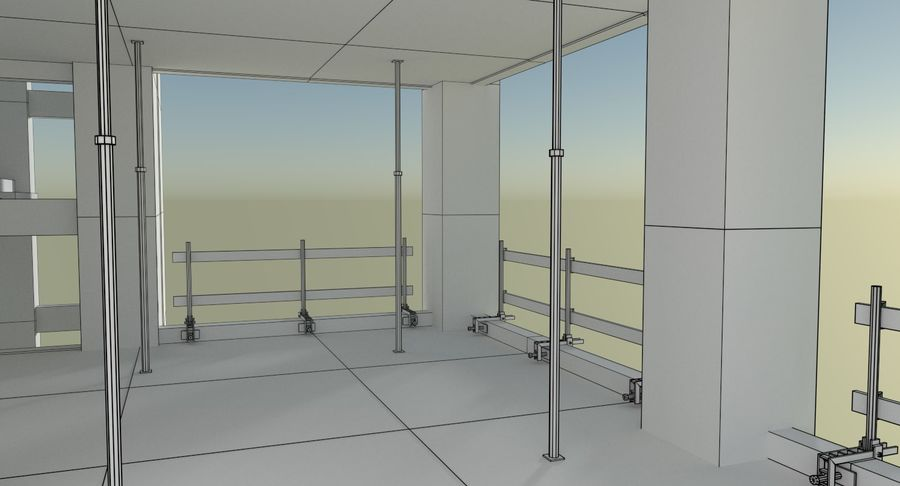 Plac budowy trzy teksturowane royalty-free 3d model - Preview no. 17