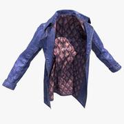 Skórzany płaszcz 3d model