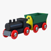 木製おもちゃの列車2 3d model