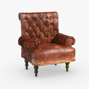Skórzane krzesło - Maya Arnold 3d model