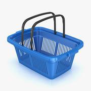 Cesto de compras de plástico 3d model