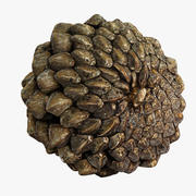 Closed Pinecone 3d model
