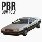 DMC DeLorean Low Poly 3d model