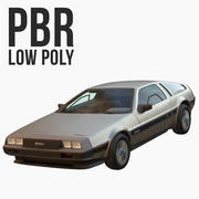 DMC DeLorean Low Poly 3d model