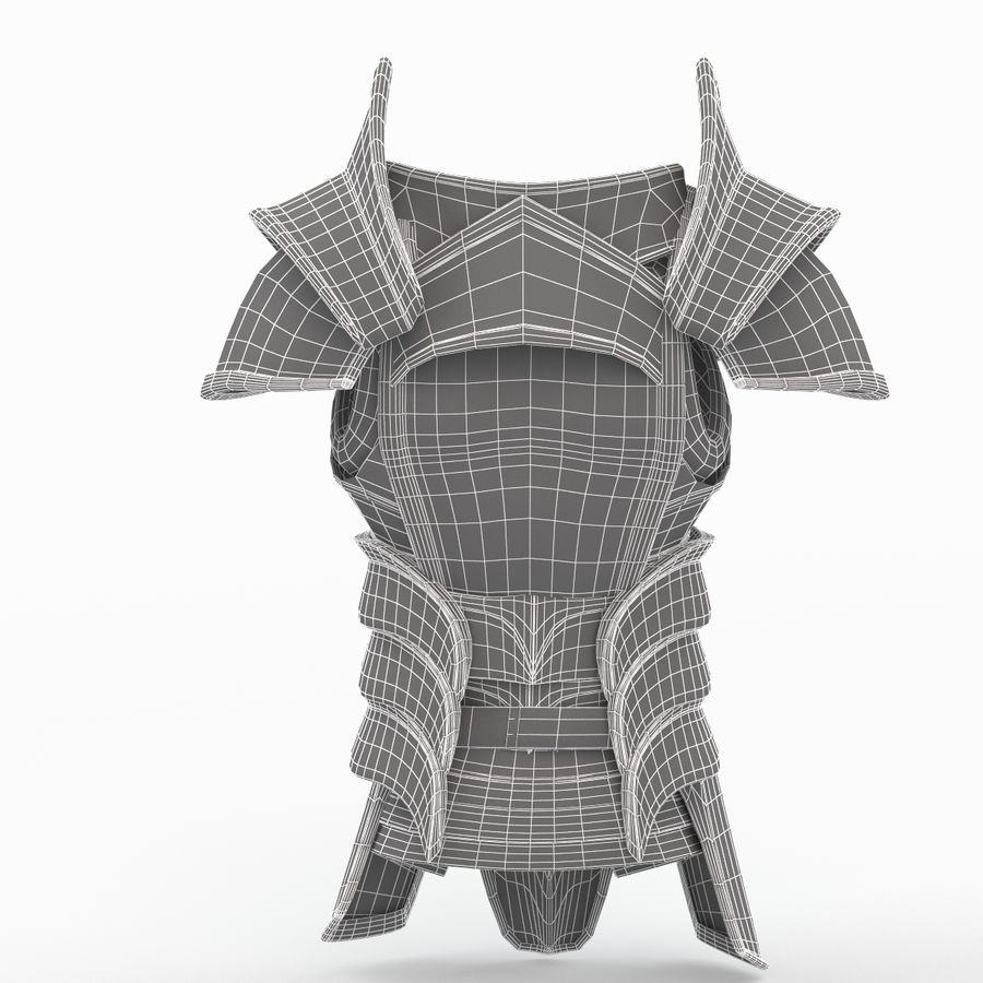 Armour v2 royalty-free 3d model - Preview no. 10