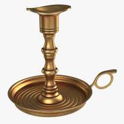 Antique Brass Candle Holder 3d model
