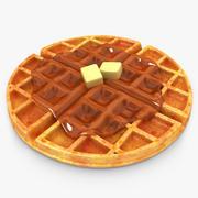 Waffle Honey & Butter 3d model