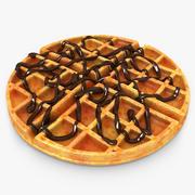 Waffle Chocolate 3d model