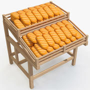 Rack with Bread(1) 3d model