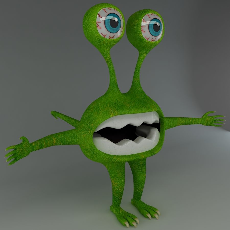 Monster royalty-free 3d model - Preview no. 2