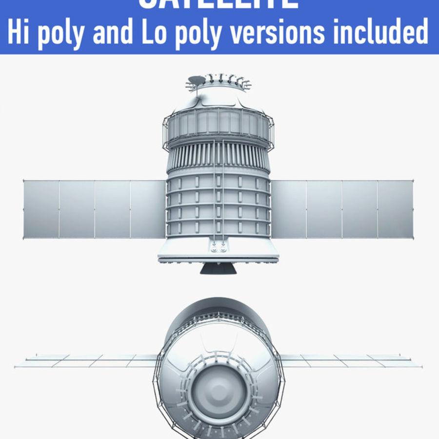 satélite royalty-free 3d model - Preview no. 1