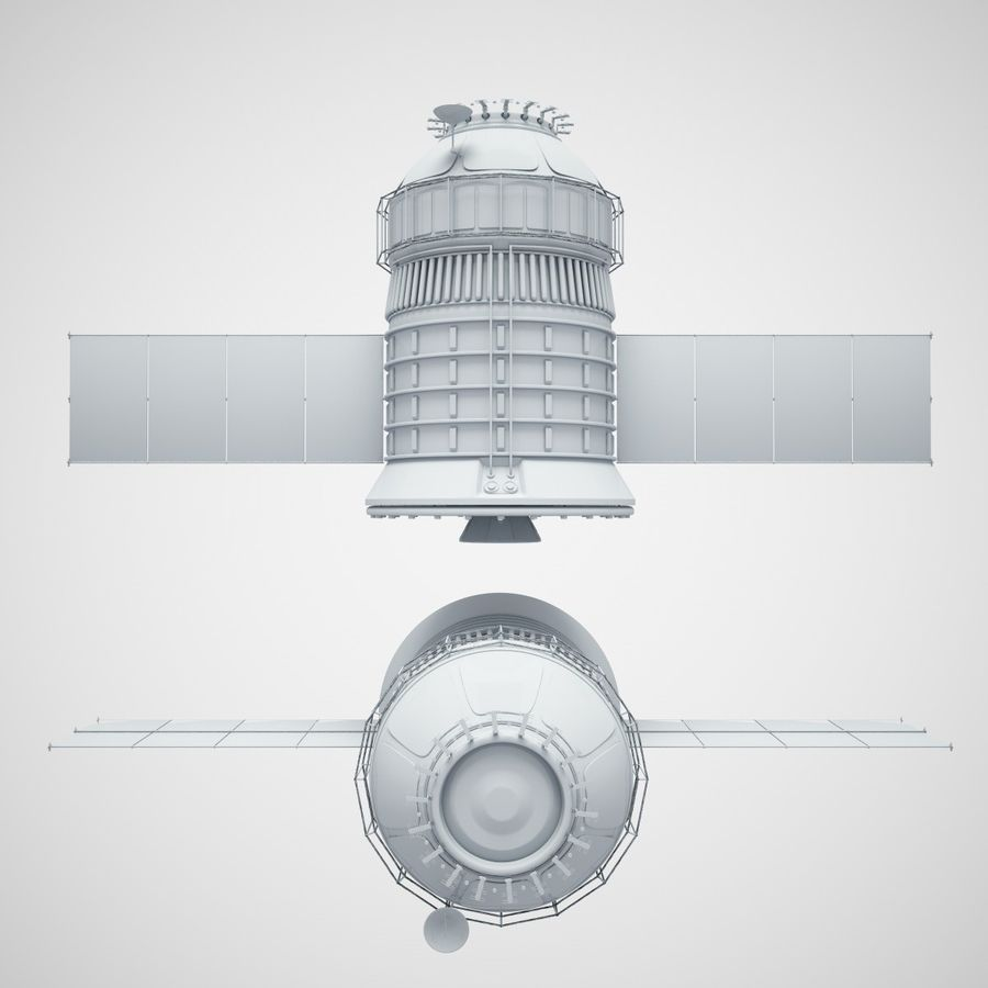satélite royalty-free 3d model - Preview no. 2