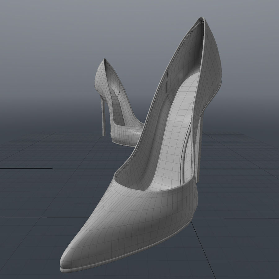 high heel women shoes royalty-free 3d model - Preview no. 8