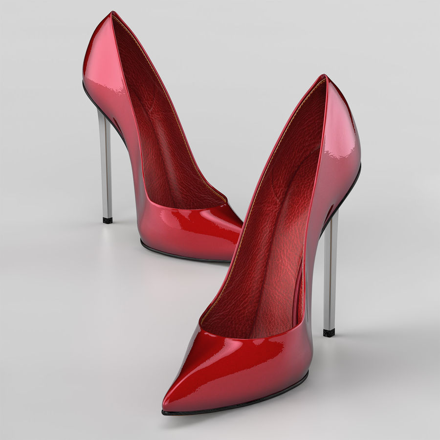 high heel women shoes royalty-free 3d model - Preview no. 7