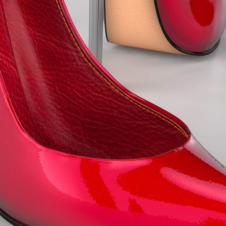high heel women shoes royalty-free 3d model - Preview no. 2