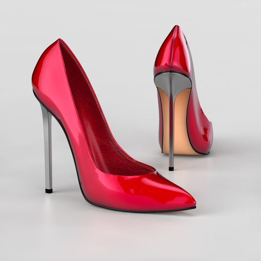 high heel women shoes royalty-free 3d model - Preview no. 1