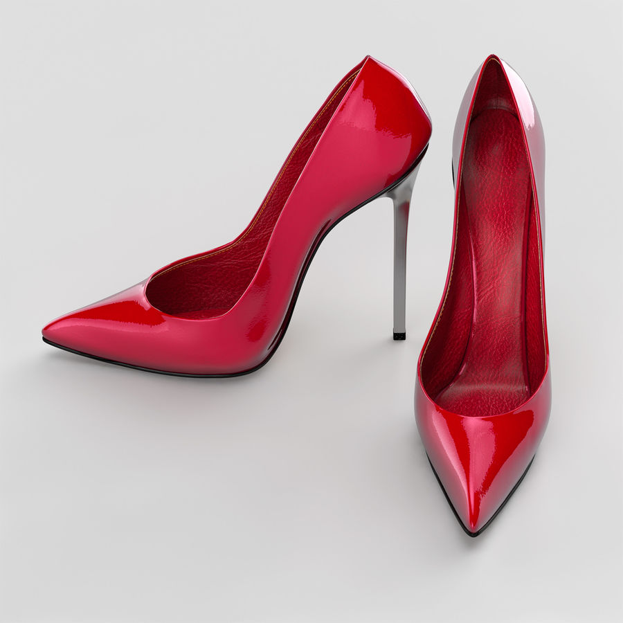 high heel women shoes royalty-free 3d model - Preview no. 4