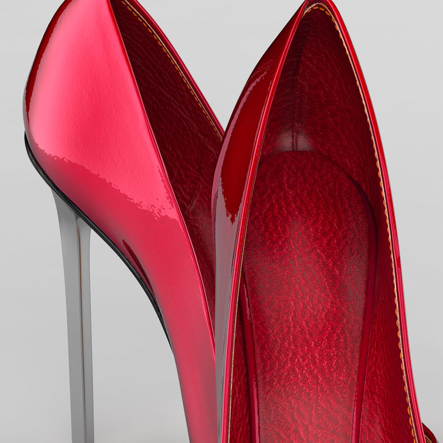 high heel women shoes royalty-free 3d model - Preview no. 3