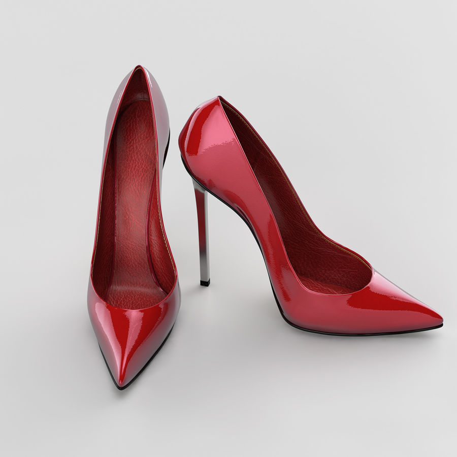 high heel women shoes royalty-free 3d model - Preview no. 5