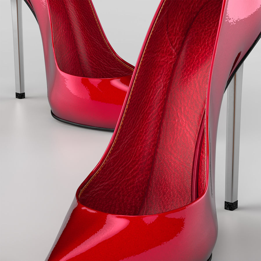 high heel women shoes royalty-free 3d model - Preview no. 6
