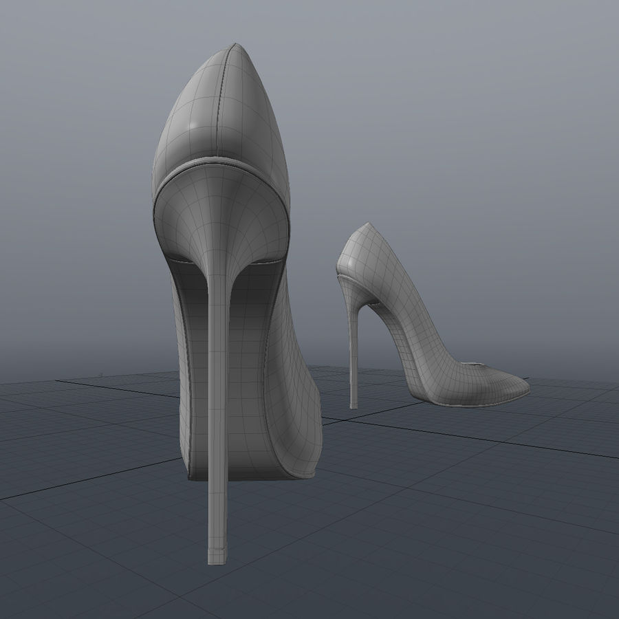 high heel women shoes royalty-free 3d model - Preview no. 11