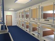캡슐 호텔 3d model