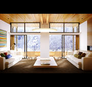Nordische Wohnung Interieur 3d model