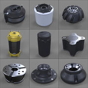 Hard Kit Kitbash Library - Canisters / Bolts / Knobs 3d model