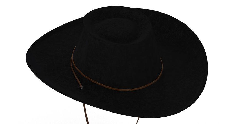 黑帽(女性) royalty-free 3d model - Preview no. 3
